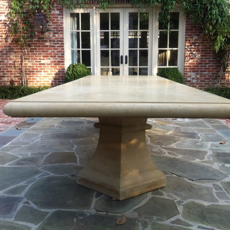 12 foot custom stone table