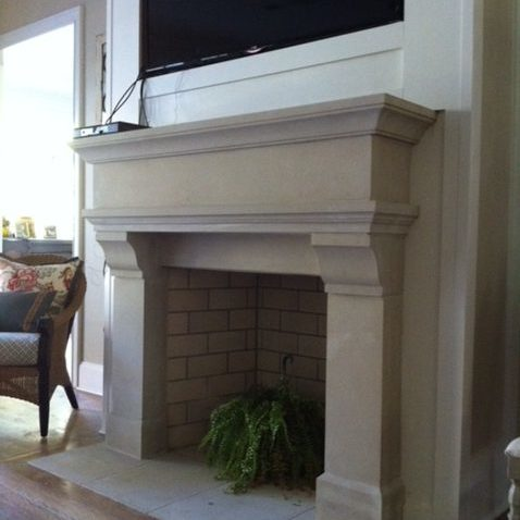 Chateau - with squared lower lintel and 8 inch corbel