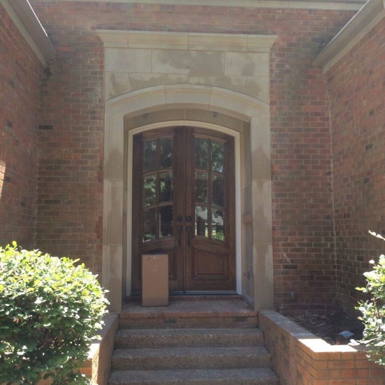 Stone entry way